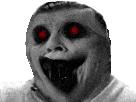 Sticker creepy monstre risitas bizarre