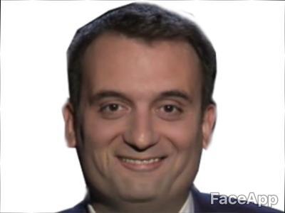 Sticker politic philippot moqueur moque sourire malaise fiddle grotte sourire
