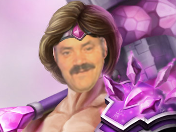 Sticker risitas league of legends lol taric du 5eme cinquieme age skin rose pink gay homosexuel ezreal marteau beau gosse homme man muscle slip calecon tinnova