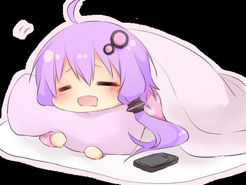 Sticker kikoojap kj yuzuki yukari vocaloid violet dodo dormir fatiguee lit