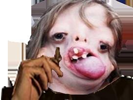 Sticker risitas chelou alkpote fume clope