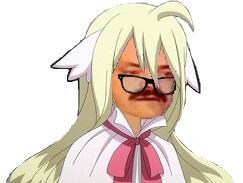 Sticker madame mavis oui fairy tail blase decue deception echec critique lunettes risitas lolita blonde