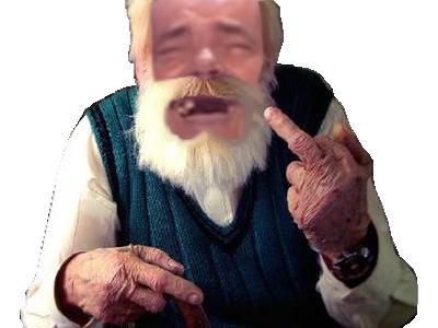 Sticker risitas vieux fuck doigt rire papy papi grand pere nique ta mere issou encule tg ferme la chut ancien