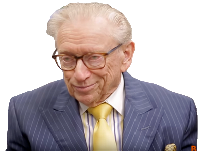 Sticker politic larry silverstein sourire fou malade la chance lucky you know