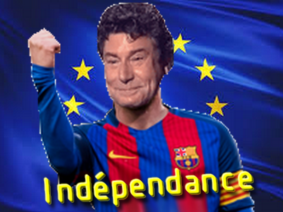 Sticker risitas jesus messi independance ue union europeenne cuck soumis mondialisation complot barcelone barca barca catalogne catalans