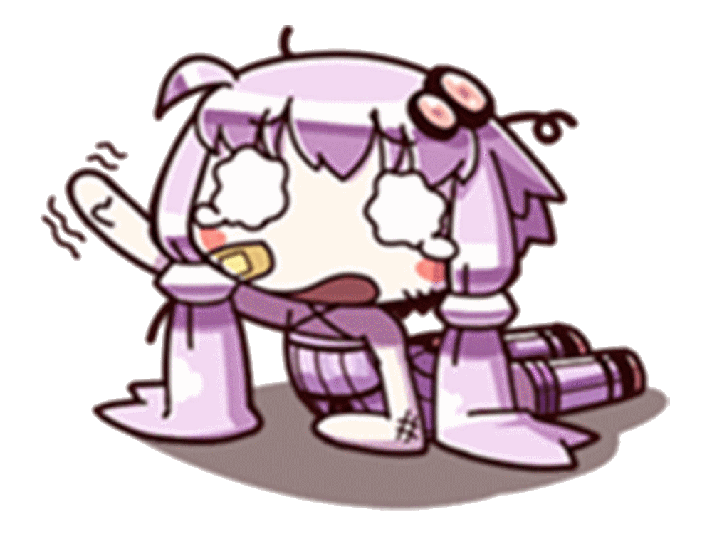 Sticker kikoojap kj yuzuki yukari vocaloid violet ouch aie ko mal