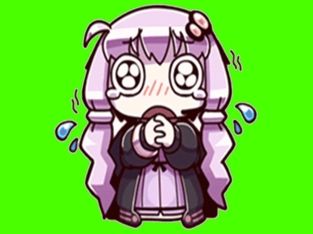 Sticker kikoojap kj yuzuki yukari vocaloid violet pleure triste peureuse tremble