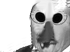 Sticker risitas noir blanc eussou monstre