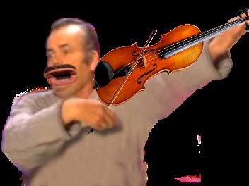 Sticker eussou violon risitas instrument musique