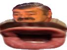 Sticker eussou risotas deform risitas bouche sur