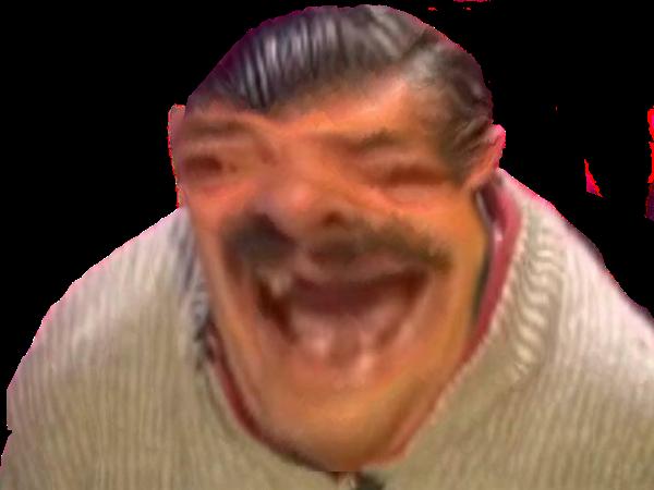 Sticker bigface risitas zoom tete rire alerte deform