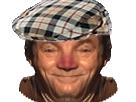 Sticker risitas jesus paysan nez rouge vin alcool beret casquette