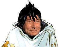 Sticker zeleph empereur jesus spriggans 12 sourire visage fairy tail mage noir