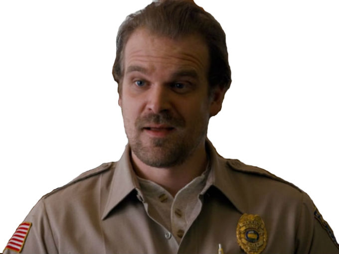 Sticker other stranger things chief david harbour police
