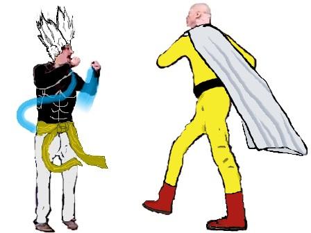 Sticker saitama garou soral vs conversano one punch man fight opm kikoojap
