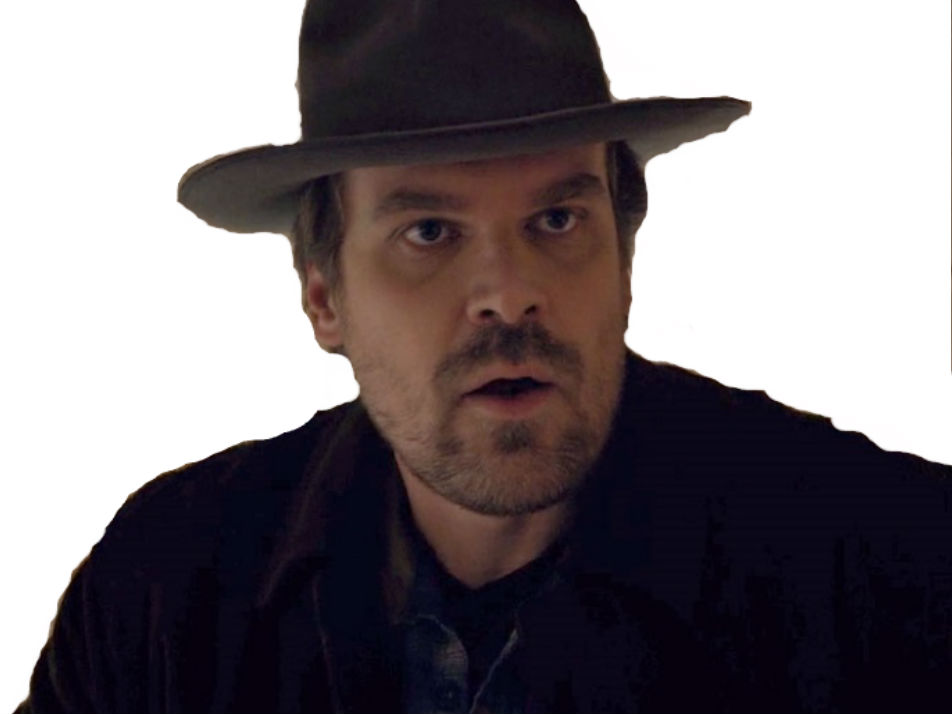 Sticker risitas stranger things chief david harbour police