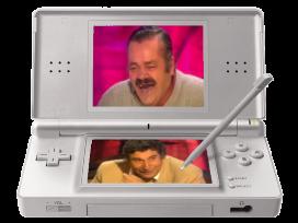 Sticker jeux videos risitas issou jesus quintero nintendo ds stylet console portable