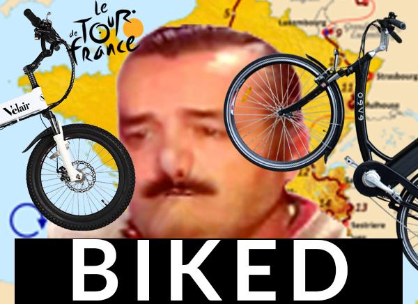 Sticker risitas biked biclycled veloed selle cul issou