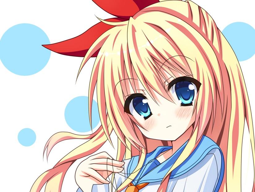 Sticker kikoojap chitoge kirisaki nisekoi anime fille blonde rose