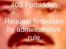 Sticker risitas 403 forbidden zoom chut choque visage request forbidden by administrative rules