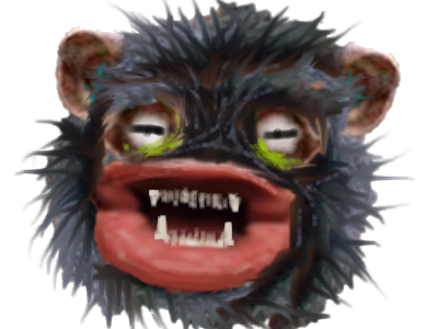 Sticker risitas gnourf eussou issinge singe gnorf