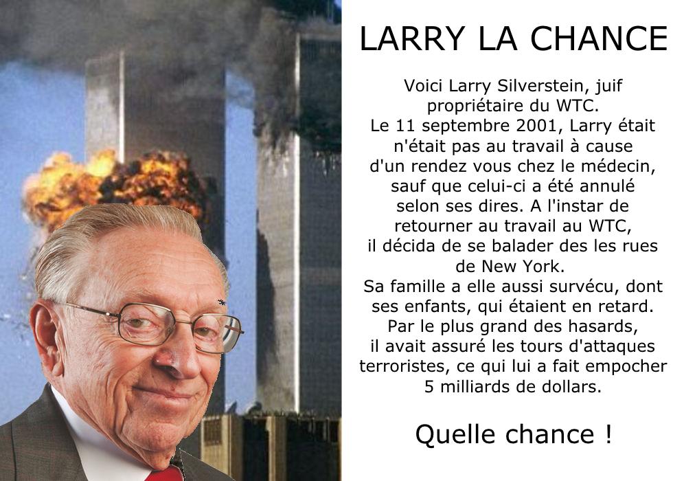 Sticker risitas chance hasard larry silverstein coincidence 11 septembre la verite complot juif