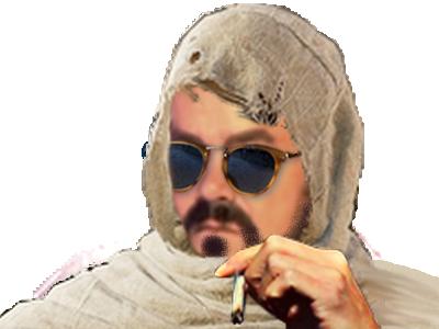 Sticker risitas deter assassins creed clope bedo lunette soleil arabe muslim musulman qatar arabie sultan cheik chofas babtou khey cool zen tranquille oklm