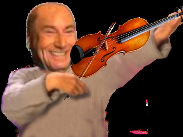 Sticker faceapp violon jesus risitas instrument musique