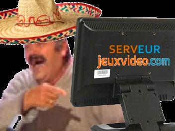 Sticker risitas serveur jvc technicien equipe technique mexicain