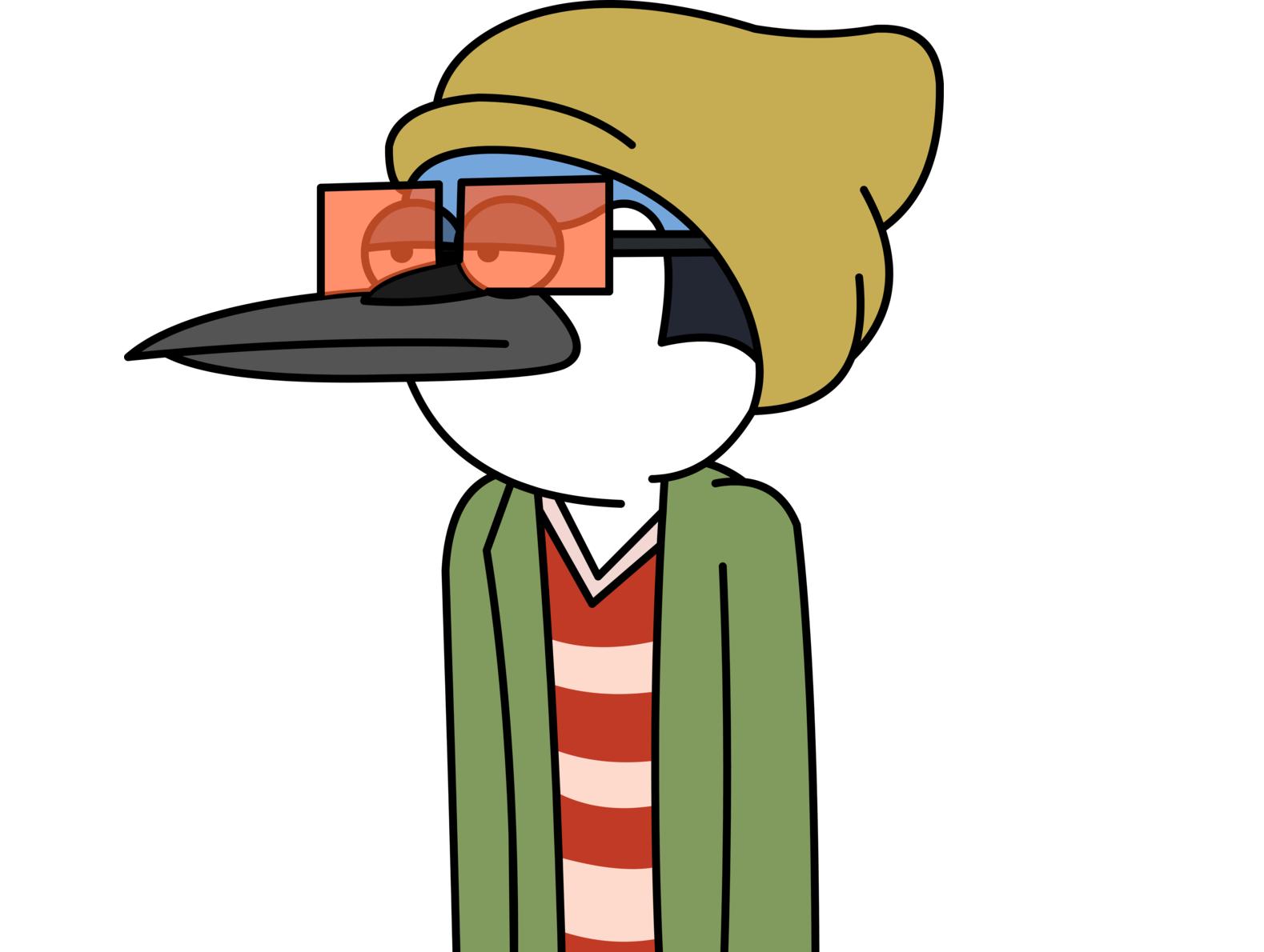 Sticker kikoojap mordecai blase lunette bonnet