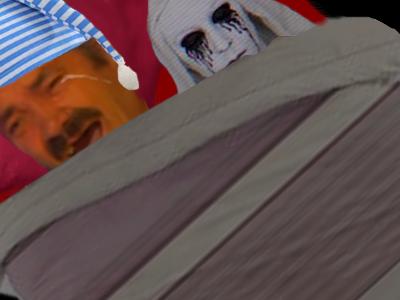Sticker risitas creepy peur horreur exorciste demon