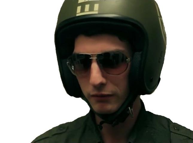 Sticker gilles policier stella flic crossed americain meprise vos papiers svp karim debbache crossed monsieur lagent lunettes noires