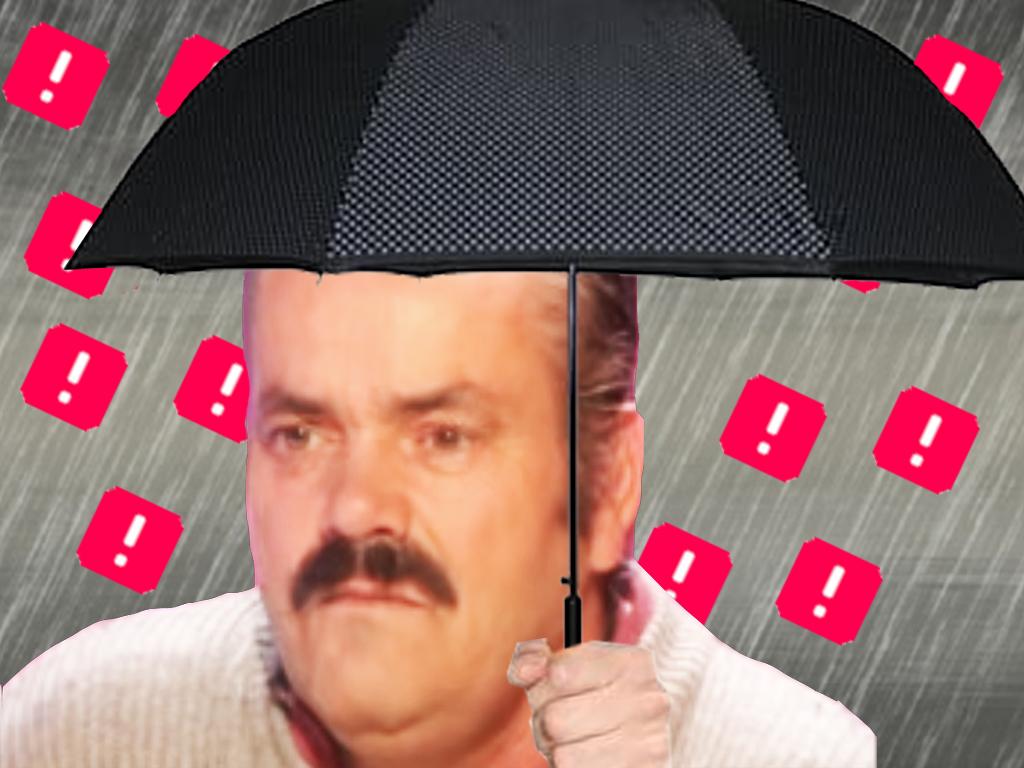 Sticker risitas pluie ddb ban triste parapluie