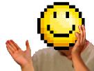 Sticker happiste jvc risitas issou jaune smiley masque