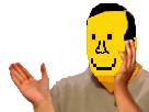 Sticker risitas smiley happy jaune pisse pleureur masque triste