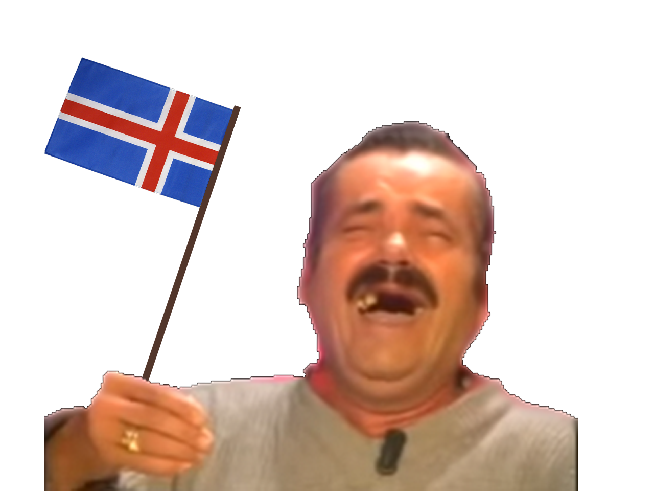 Sticker risitas drapeau island