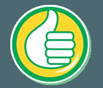 Sticker other pouce auchan eco bidon thumbsup siffliste