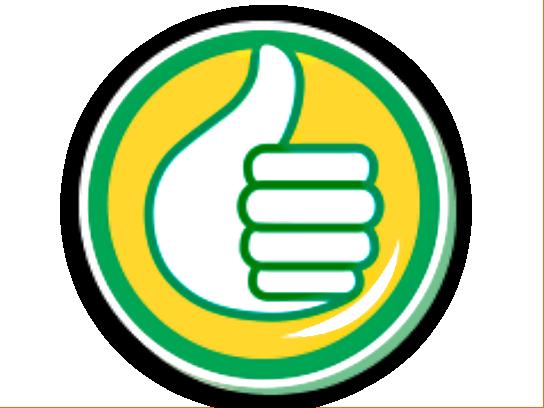 Sticker other auchan pouce eco ok thumbsup like