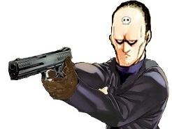 Sticker flingue jacob pistolet magnum gros calibre assassin mashima hitman fairy tail spriggans 12 tg fdp kikoojap