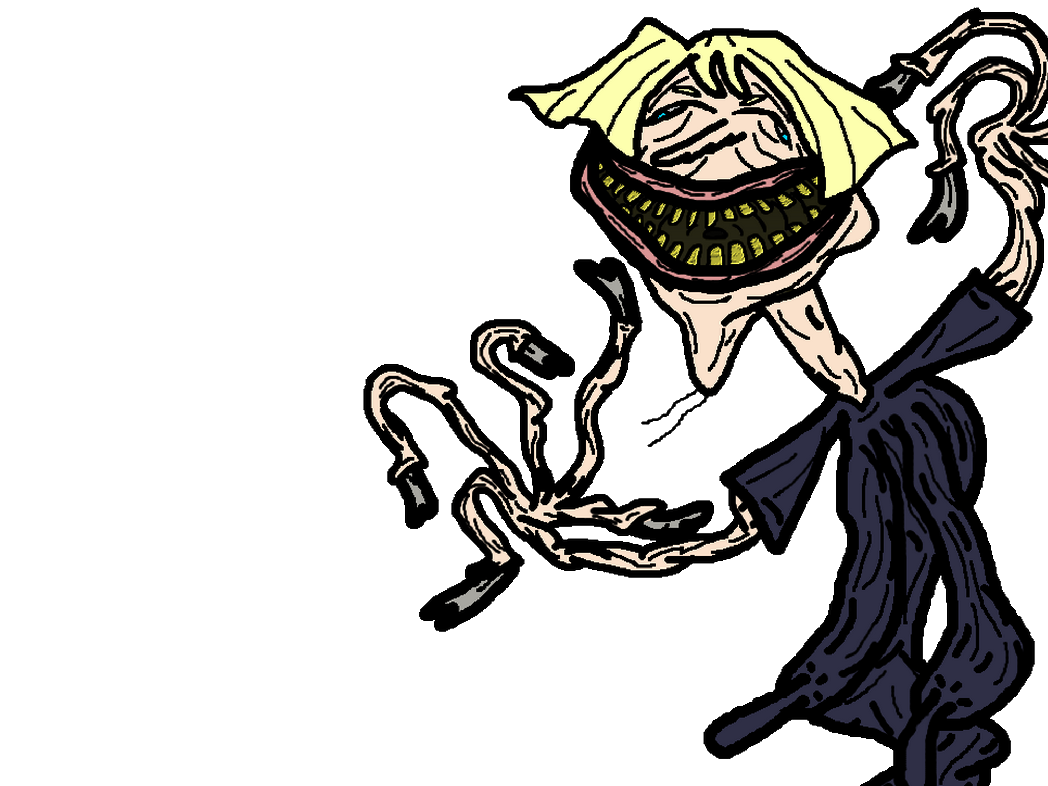 Sticker other vielle blonde creepy moche horreur omfg