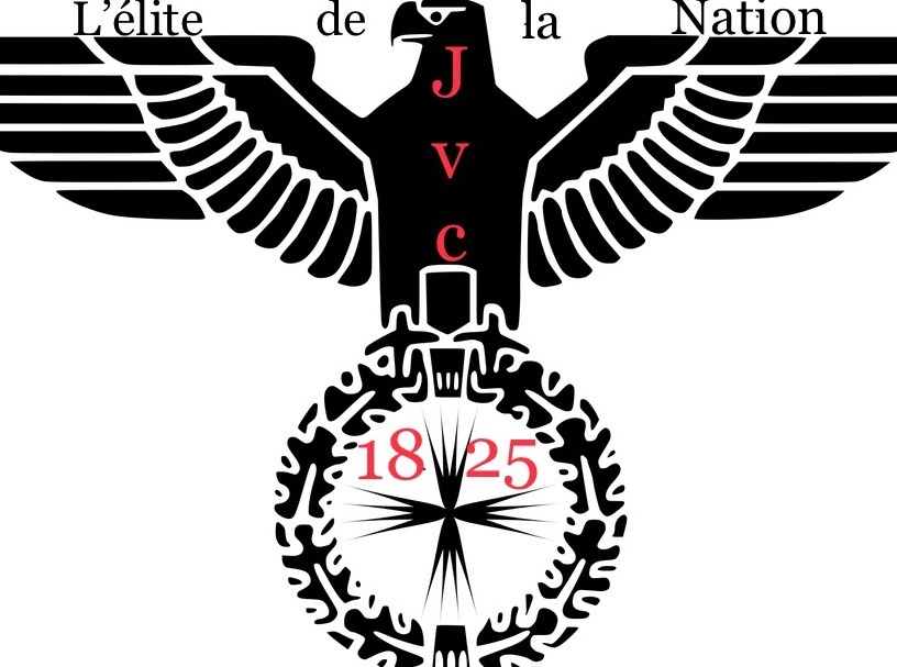 Sticker drapeau 18 25 elite de la nation embleme blazon aigle jvc
