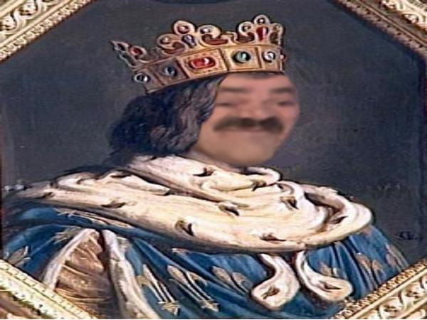 Sticker roi risotas jesustas manteau duc comte seigneur risitas