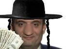 Sticker politic phillipot juif argent