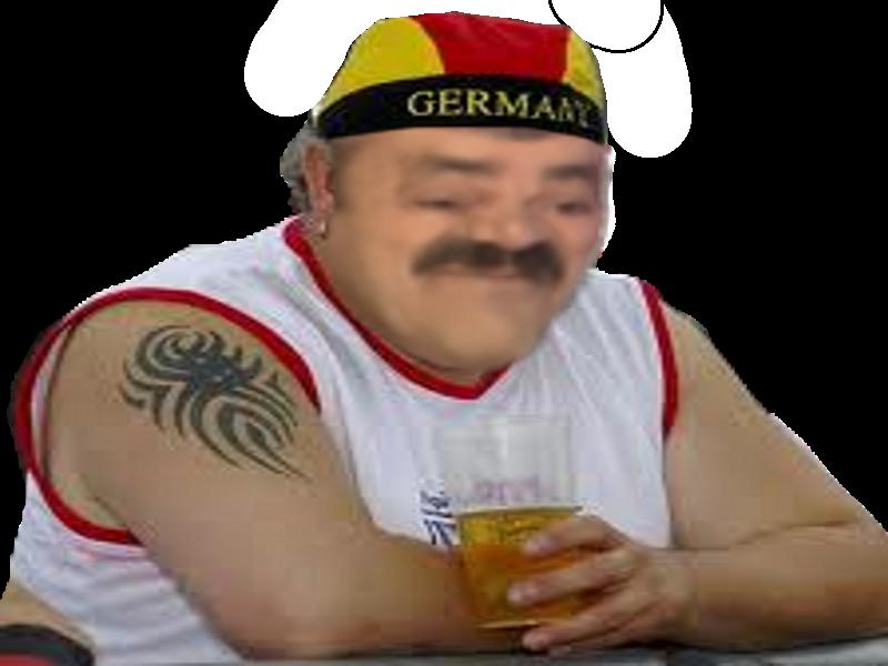 Sticker risitas allemand chapeau biere deutch