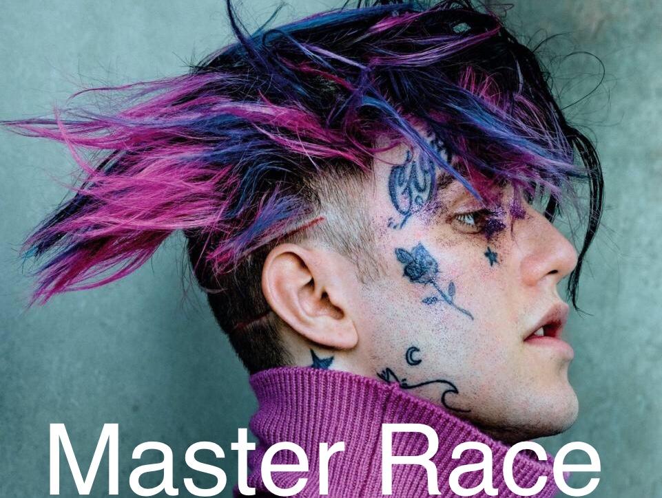 Sticker lil peep master race maitre course rap drogue