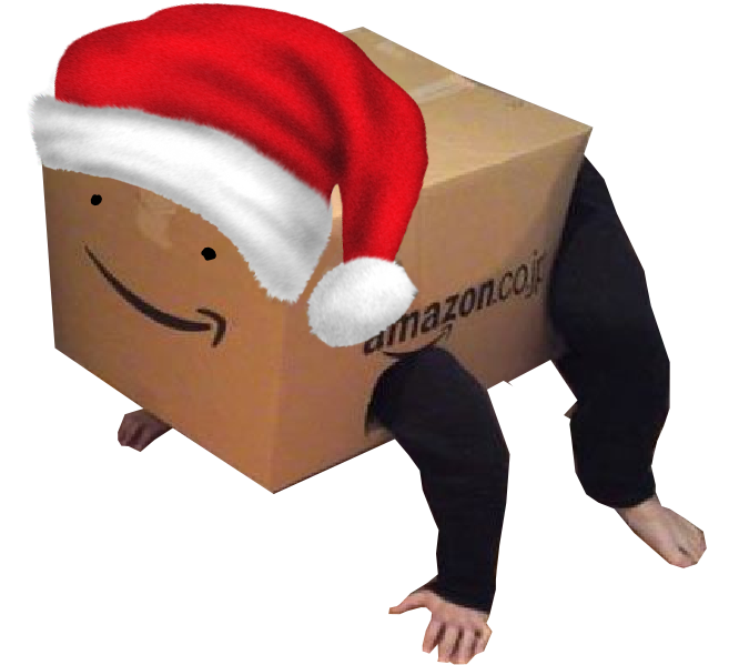 Sticker other carton noel christmas boite sourire amazon avenoel noelliste cartonfag