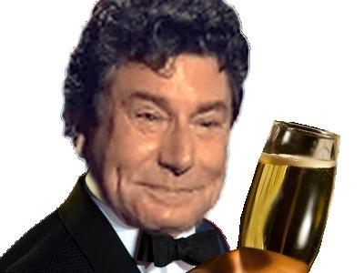 Sticker risitas jesus smoking champagne noeud papillon pape agent 007 classe cool oklm alcool a la tienne toast cia fbi dgsi repas noble riche sante