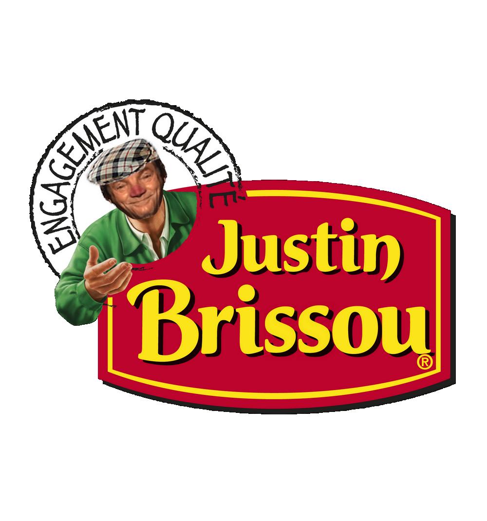 Sticker risitas justin brissou jesus saucisson charcuterie publicite pub 2 sucres