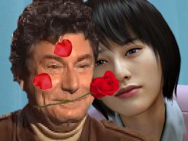 Sticker risitas yakuza 0 jesus amoureux