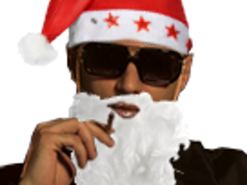Sticker alkpote noel pere bonnet rouge barbe blanche other alk qlf